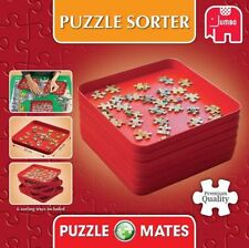 NEW! Jumbo Games Puzzle Mates Puzzle Sorter 6 stackable sorting trays 17953