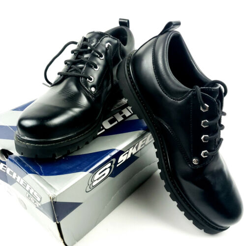 SKECHERS USA Men's Alley Cat UTILITY Shoe Black Sm