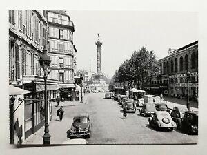 778-Antica-Cartolina-Parigi-la-Place-da-la-Bastille-4e-11e-12e-Arrondt
