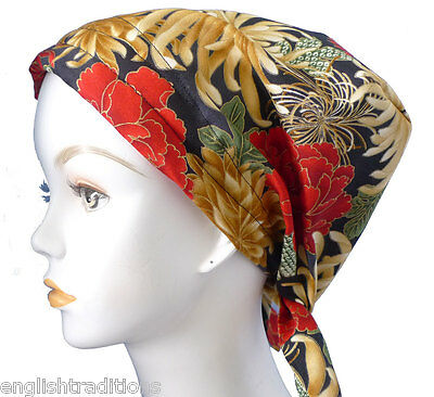 Elegant Floral Chemo Cancer Hat Alopecia Hair Loss Bad Hair Day Scarf Turban