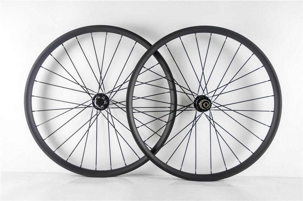 29ER MTB Bike Carbon Wheelset 25mm Depth 35mm  Width Mountain XC Carbon Wheels  low 40% price