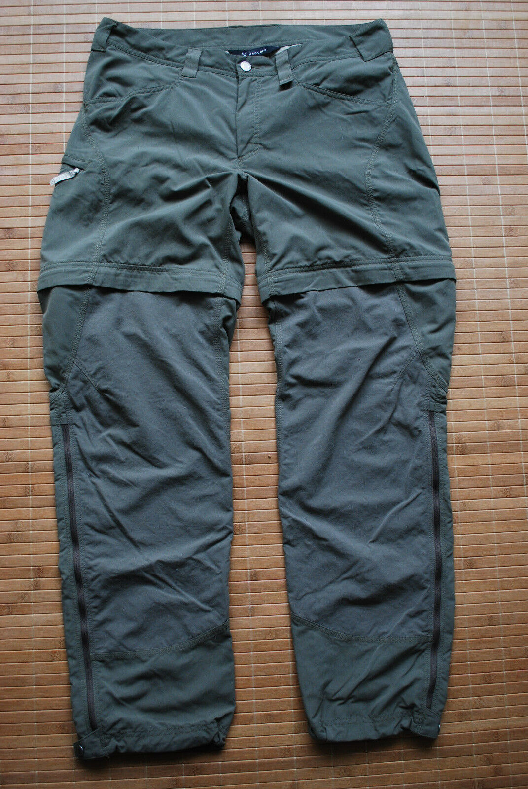 Haglofs Lite Climatic Zip Off  Pants Men's size M W34 Trousers Hiking Trekking  new sadie