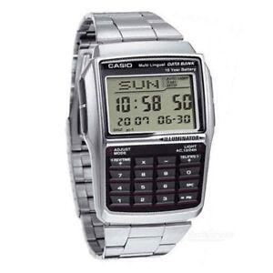 bd861f3dc85 Casio DBC-32D-1 Multi-Lingual Data Bank Digital Watch Telememo ...