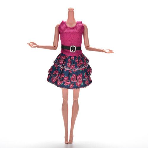 1 Pcs Fashion Widding Vest Dresses for s Princess Dolls 14cm Length HK