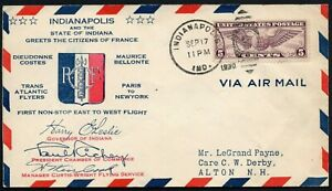 993-Stati-Uniti-Transatlantic-flyers-Paris-to-New-York-su-busta-17-09-1930