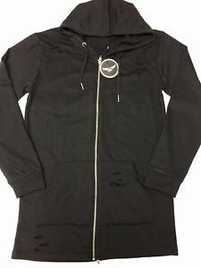 Mens-Black-BC-King-Longline-Zipped-Jumper-Hoodie-Cardigan-Gym-Hoody-Top-Sweater