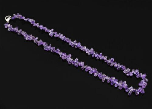 SUPERBE ÉLÉGANTE AAA 140.00 cts naturel non traité Violet Améthyste Perles Collier