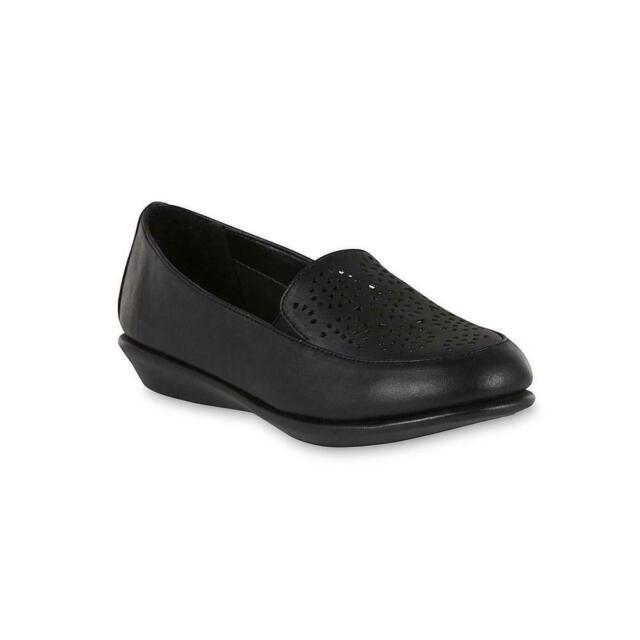 Evelyn Black Wide Width Loafer Shoes
