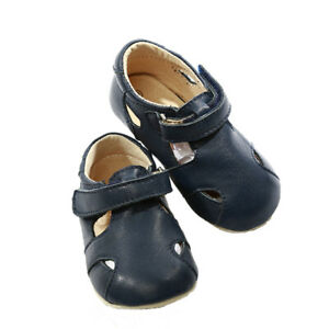 NEW-SKEANIE-Pre-walker-Leather-Sunday-Sandals-Navy-0-to-2-years