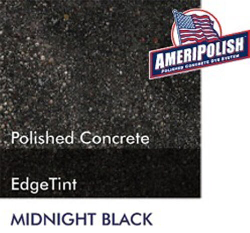 Midnight Black CONCRETE COLOR DYE 4 CEMENT STAIN AMERIPOLISH Solvent based 5 GL