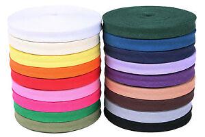 25m-Schraegband-Baumwolle-20mm-gefalzt-0-40-m-Farbwahl-Kantenband-Rolle