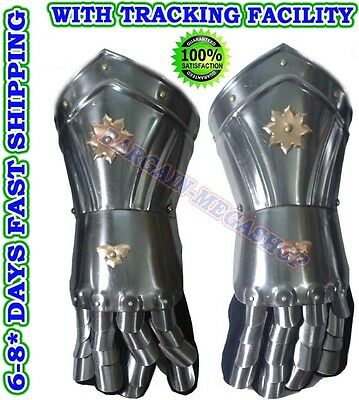 Medieval Knight Gauntlets - larp / role-play / fancy-dress / theatre Costume f4@