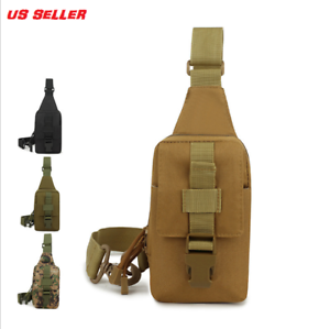 Outdoor Men Backpack Molle Tactical Sling Chest Pack Shoulder Bag Hiking Bag