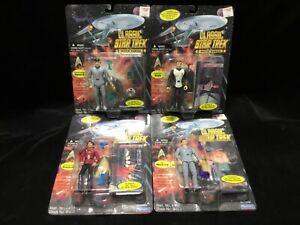 Lot of (4) Star Trek Movie Action Figures [Playmates 1995] Capt Kirk Spock NIB