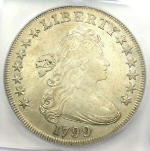 1799 Draped Bust Silver Dollar $1 Coin BB-169 - Certified ICG AU53 Details!