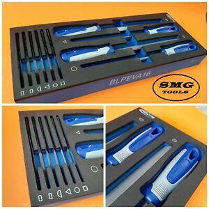 Blue-Point-10-PC-Dateien-Set-Eva-Schaum-Nagelneue-als-verkauft-von-Snap-On
