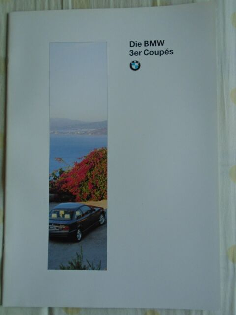 BMW 3 Series Coupes brochure 1995 Ed 1 German text