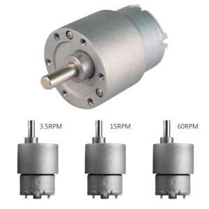 37mm-25mm-12V-DC-3-5-15-60-100-120-300RPM-high-torque-gear-box-Electric-Motor-UK
