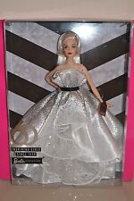 2019 Barbie Signature White & Silver Dress 60th Anniversary Barbie BRAND NEW