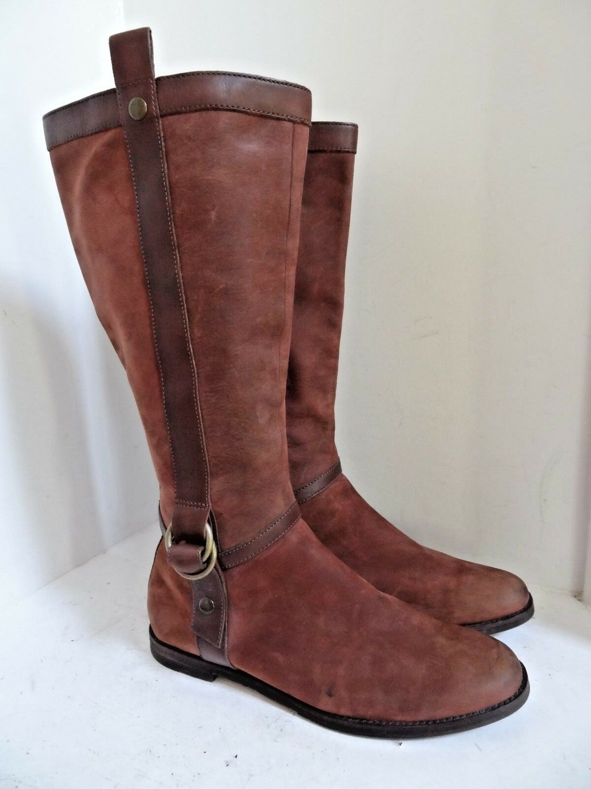 COLE HAAN (E10 D32471) Brown Leather  Knee High Boots Women's - SIZE 10B - NICE