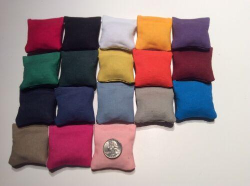 "20 Sets Of 4 2/"" X 2/"" bean bags 80 Choose Your Own Color Mini cornhole"