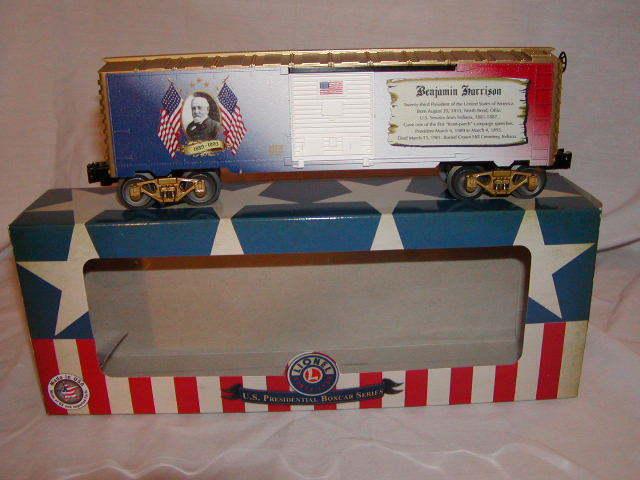 Lionel 6-84930 Benjamin Harrison Presidential Series Box Car O 027 Made USA 2018