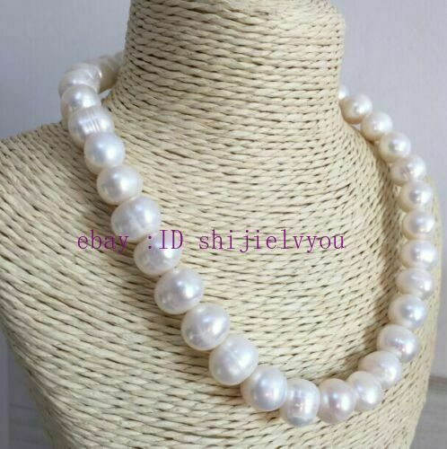 Details about  /NEW 12-13mm baroque south sea white pearl necklace 18inch