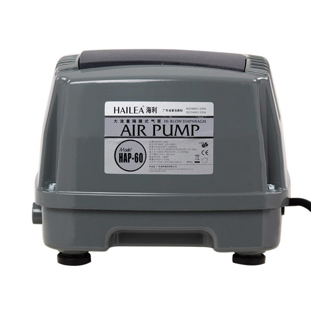 Hailea Air Pump, 60LM Hiblow Diaphragm Oxygen Oxygen Oxygen Pump Aquarium Pond AU Plug dfe749