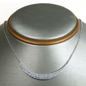 1-24-TCW-Round-Cut-Diamonds-Hammock-Shaped-Necklace-In-Solid-14k-White-Gold