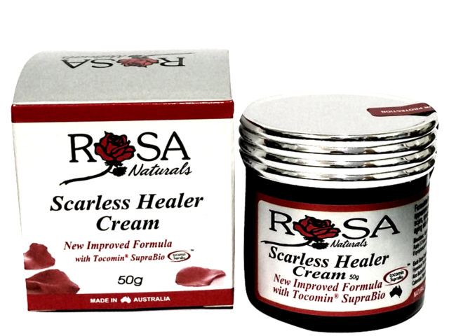 ROSA NATURALS Scarless Healer Cream 50g Stretch Marks Acne Scars Age Spots