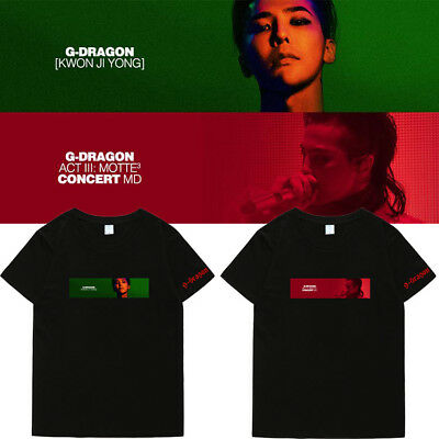G-dragon GD LIVE TOUR KPOP T-SHIRT SHIRT Act III Motte Bigbang Tee D167