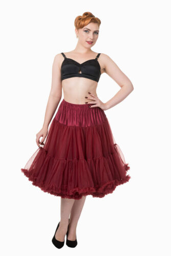 Bordeaux 50's Rockabilly Super Soft 26 inches Petticoat Skirt By Banned Apparel