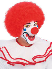 Adult Red Clown Style Afro Funky Disco Curly Comic Relief Wig Fancy Dress New