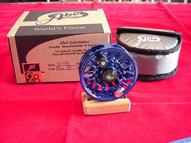 Abel Fly Reel New Sealed Disc Drag 4 5 Reel in blueE GREAT NEW
