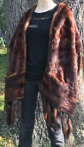 OOAK Beautiful Mink Stole Several Feet and Tails Oddity Dress Up Cosplay Royal
