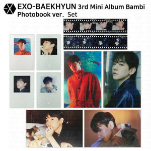 EXO Baekhyun 3rd Mini Album Bambi Official Postcard Sequence Film Clearcard KPOP
