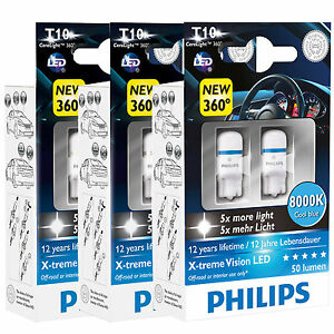 philips xtreme vision 360 led w5w 501 t10 car bulbs 4000k. Black Bedroom Furniture Sets. Home Design Ideas