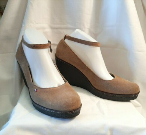Tommy Hilfiger Angelina Wedges High Shoes Brown S… - image 1