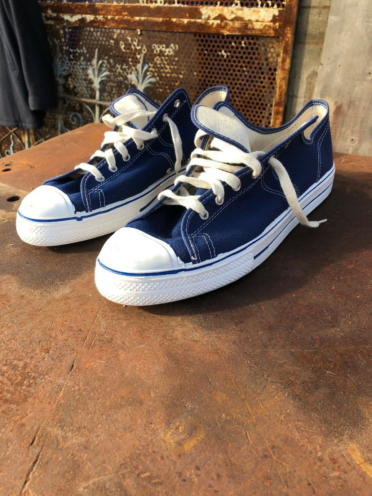 Converse Vintage Chuck Taylor All Stars Sneakers--bluee--Sz 13--RARE Made in USA