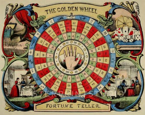 Golden Wheel Fortune Teller 1862 Vintage Giclee Canvas Print 22x28