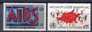 19369-UNITED-NATIONS-Vienna-1990-MNH-Anti-AIDS