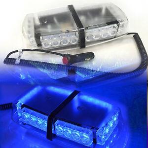 Roof-Top-24-LED-Warning-Emergency-Hazard-Rooftop-Flash-Strobe-Light-Bar-Blue