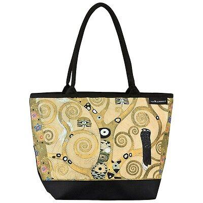 Tasche praktisch gold Kunst Shopper Bag elegant Gustav Klimt: Lebensbaum 4190