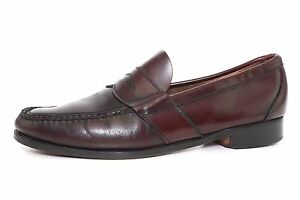 Cole Haan Men's Burgundy Leather Slip On Loafers 4804 Sz 10.5 B