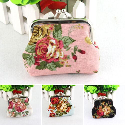 Womens Coin Card Holder Small Wallet Clutch Ladies Floral Mini Purse Handbag Bag