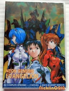 Neon-Genesis-Evangelion-Complete-TV-1-26-2-Movie-Collection-New-in-USA-English