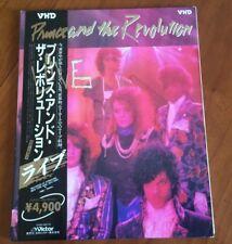 Prince and The Revolution Live VHM49010 JAPAN VHD VIDEO DISC + OBI