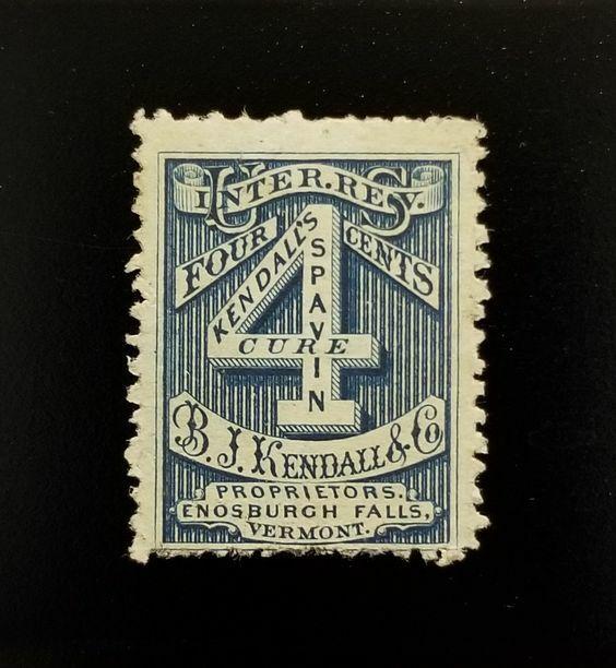 B.J. Kendall & Co. 4c USA Internal Revenue RS154d Priva