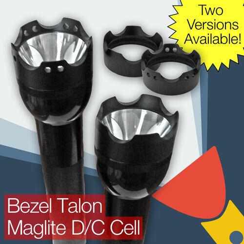 Genuine Maglite Flashlight Black Face Cap Ring D Cell 201-000-002 ZZ040207