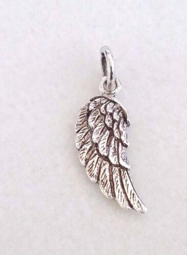 Real sólido de plata esterlina 925 pequeño Ángel Hada Ala Encanto Colgante Regalo